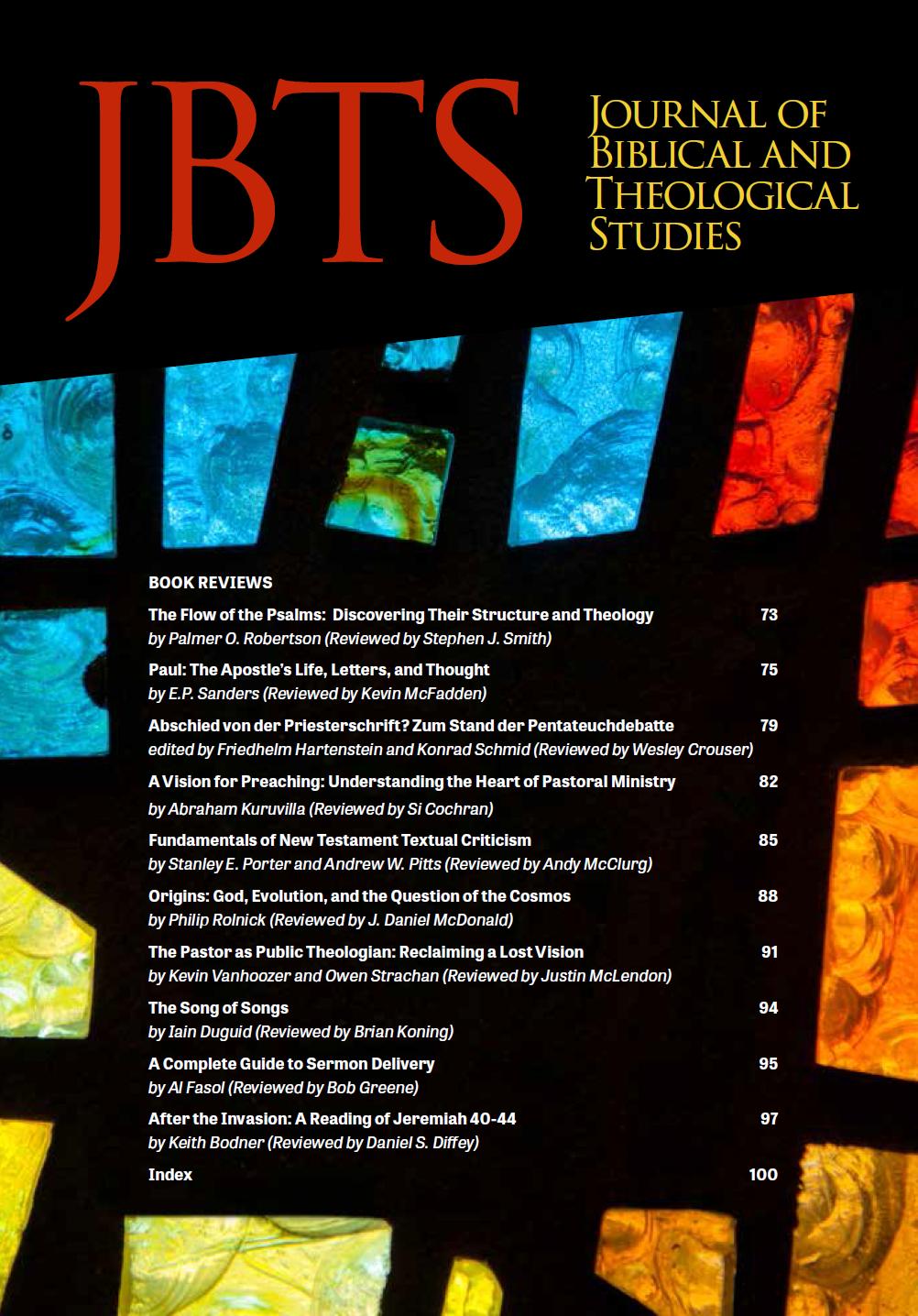 JBTS 1.1 Book Reviews