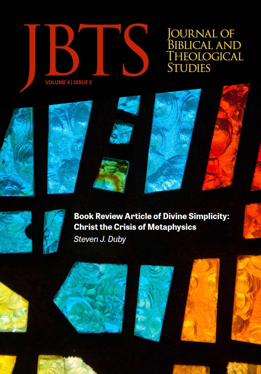 Book Review Article of Divine Simplicity: Christ the Crisis of Metaphysics